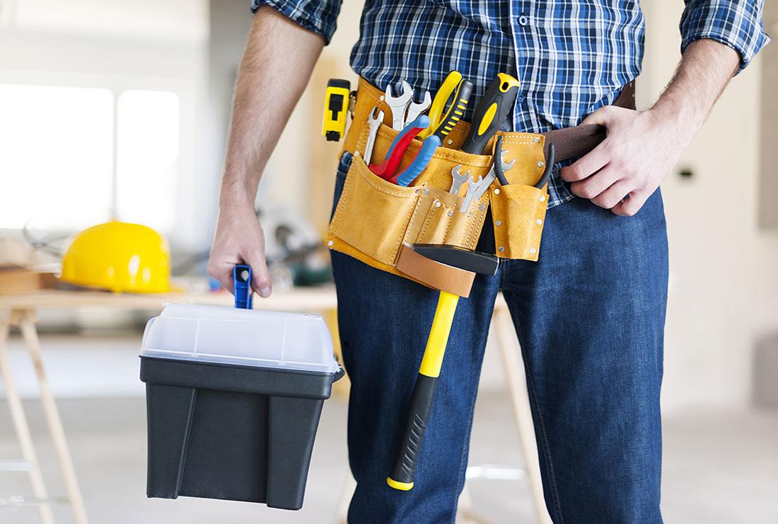 dumpster service employee tool belt
